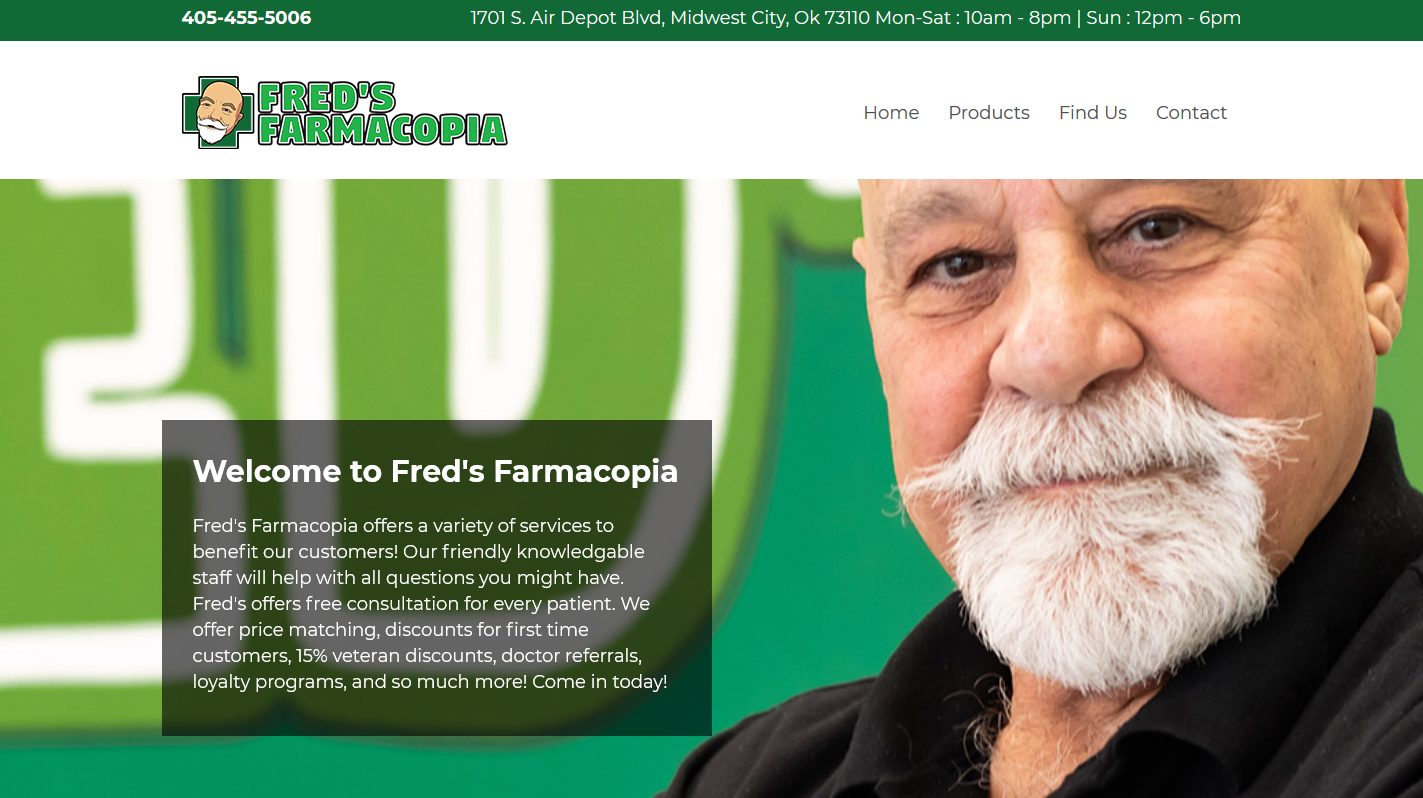 freds-farmacopia-website-design-services-okc-headstormstudios