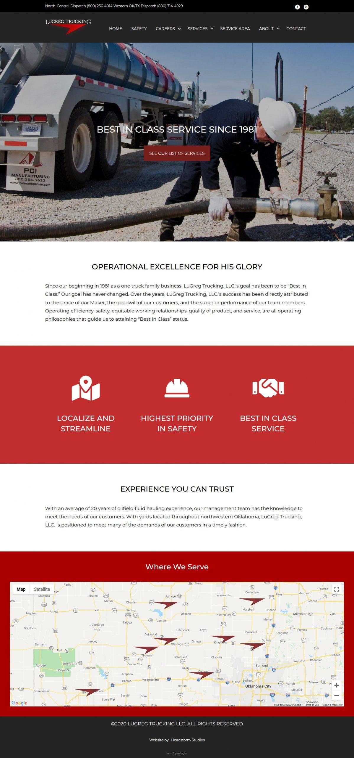 lugreg-trucking-website-design-okc-headstorm-studios